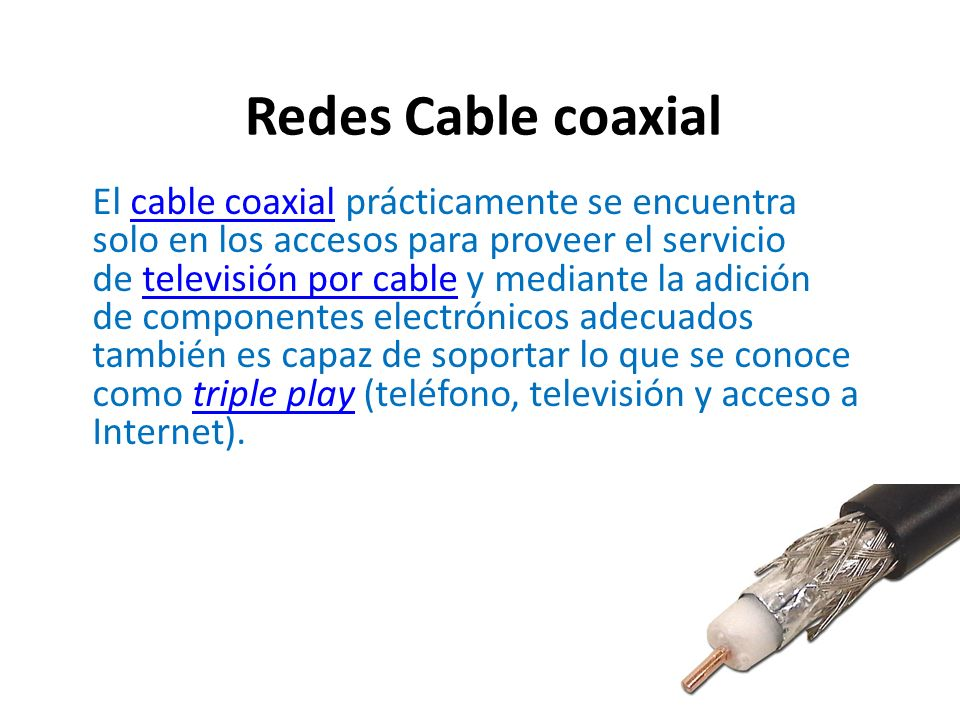 Redes Cable coaxial