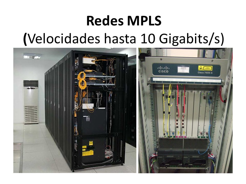 Redes MPLS (Velocidades hasta 10 Gigabits/s)