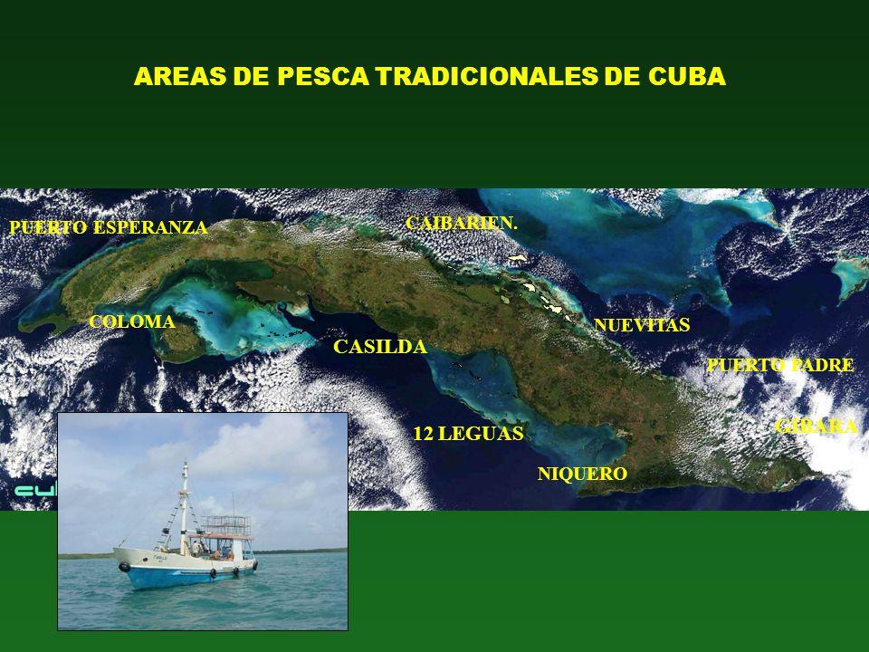 AREAS DE PESCA TRADICIONALES DE CUBA