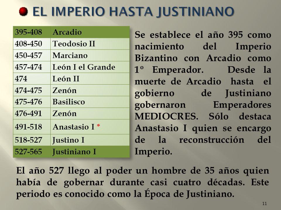 EL IMPERIO HASTA JUSTINIANO