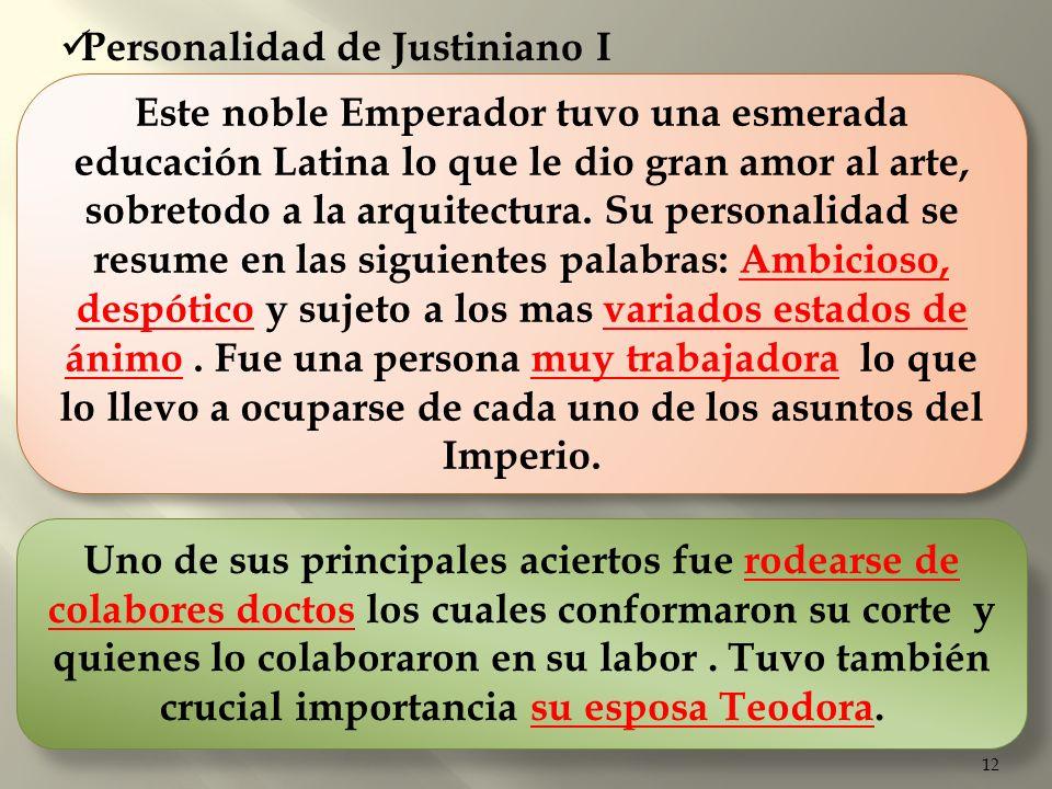 Personalidad de Justiniano I