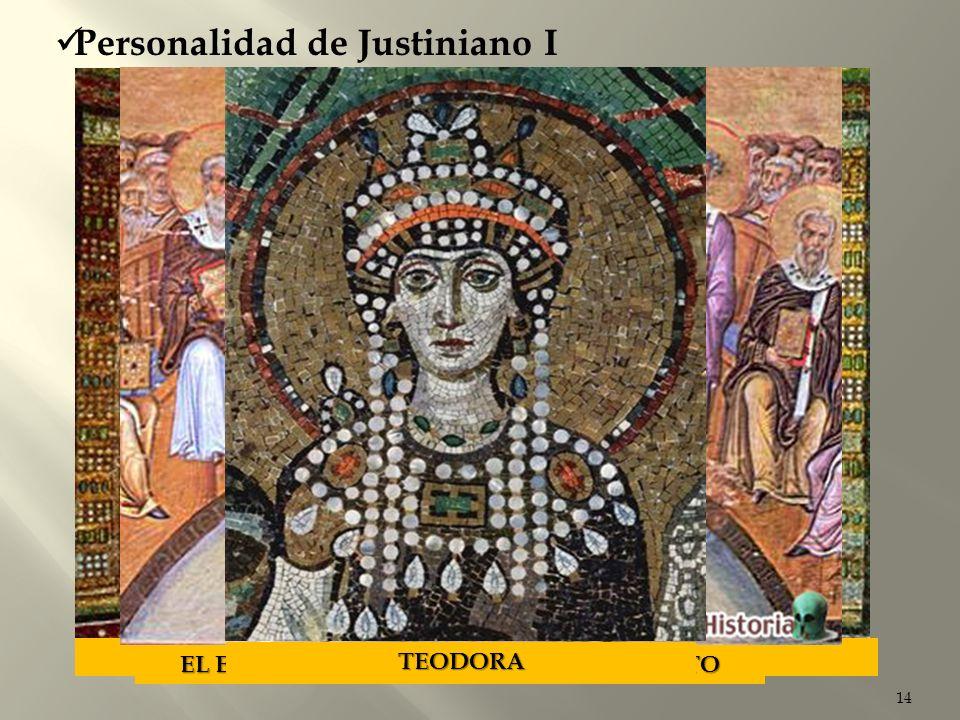 EL EMPERADOR JUSTINIANO Y SU SEQUITO