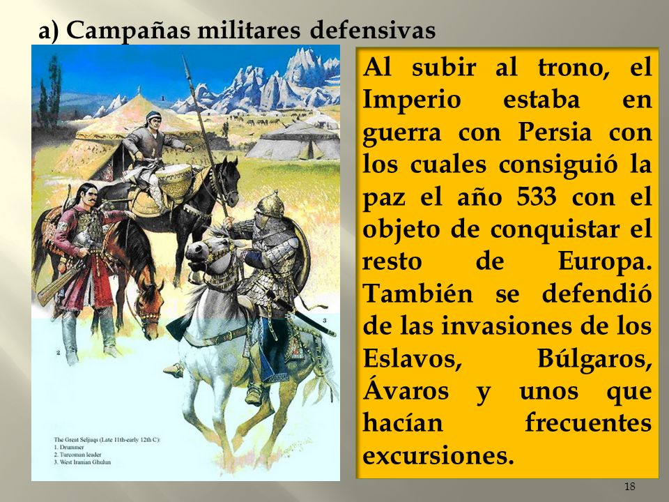 a) Campañas militares defensivas