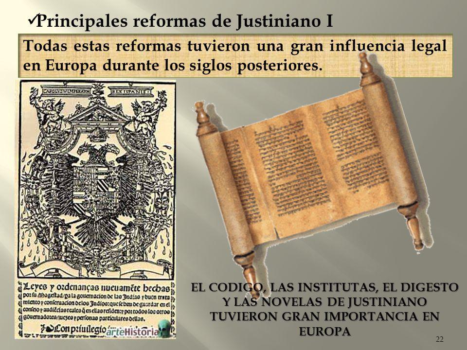 Principales reformas de Justiniano I