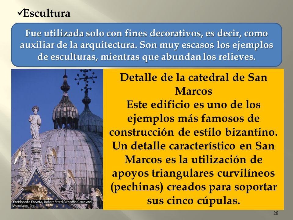 Detalle de la catedral de San Marcos