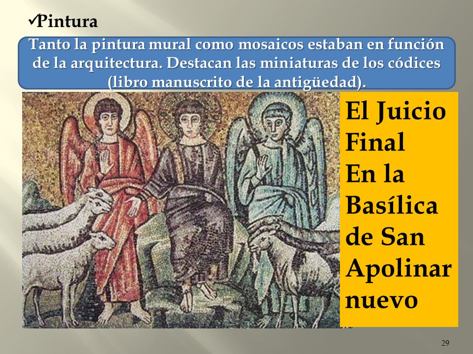 Es una muestra de la pintura bizantina.