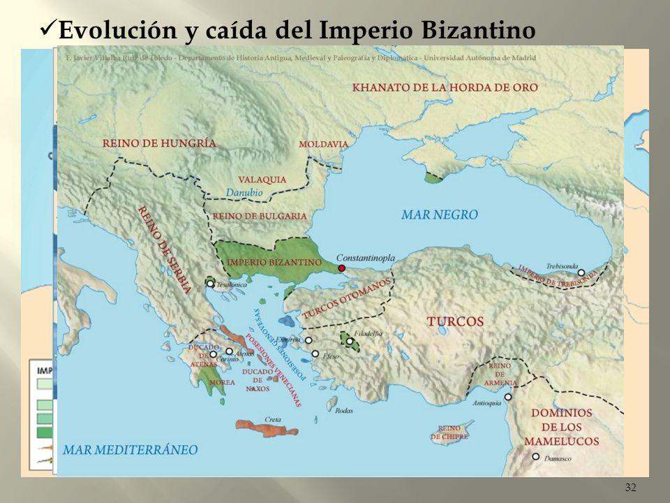 Evolución y caída del Imperio Bizantino