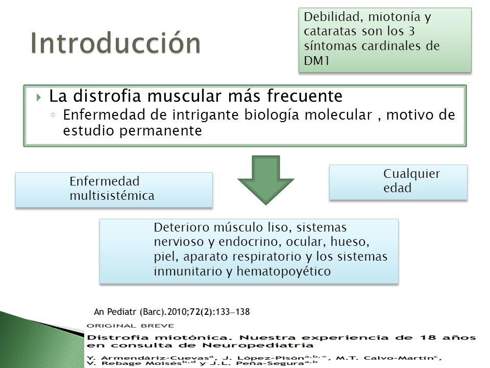 Introducción La distrofia muscular más frecuente