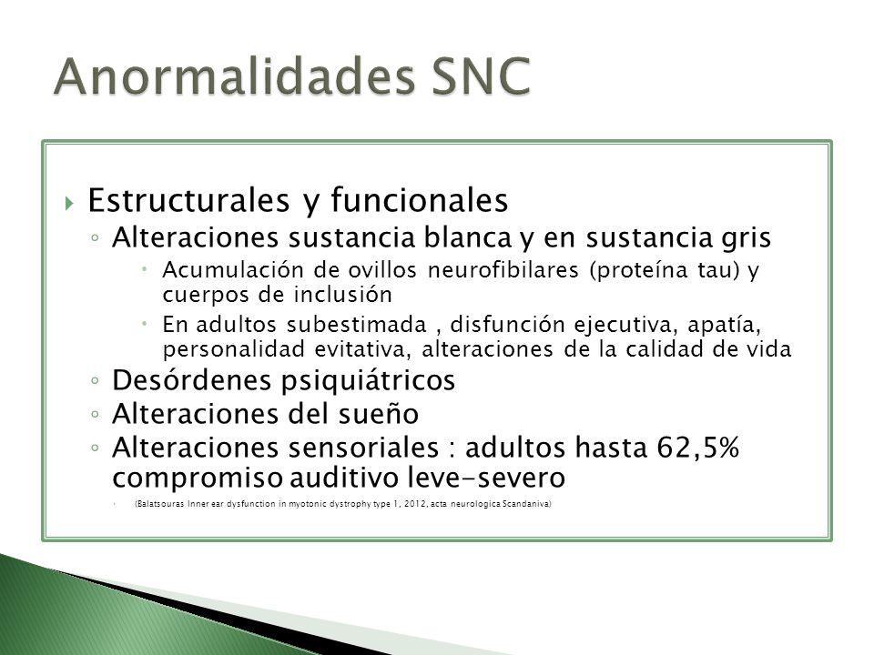 Anormalidades SNC Estructurales y funcionales