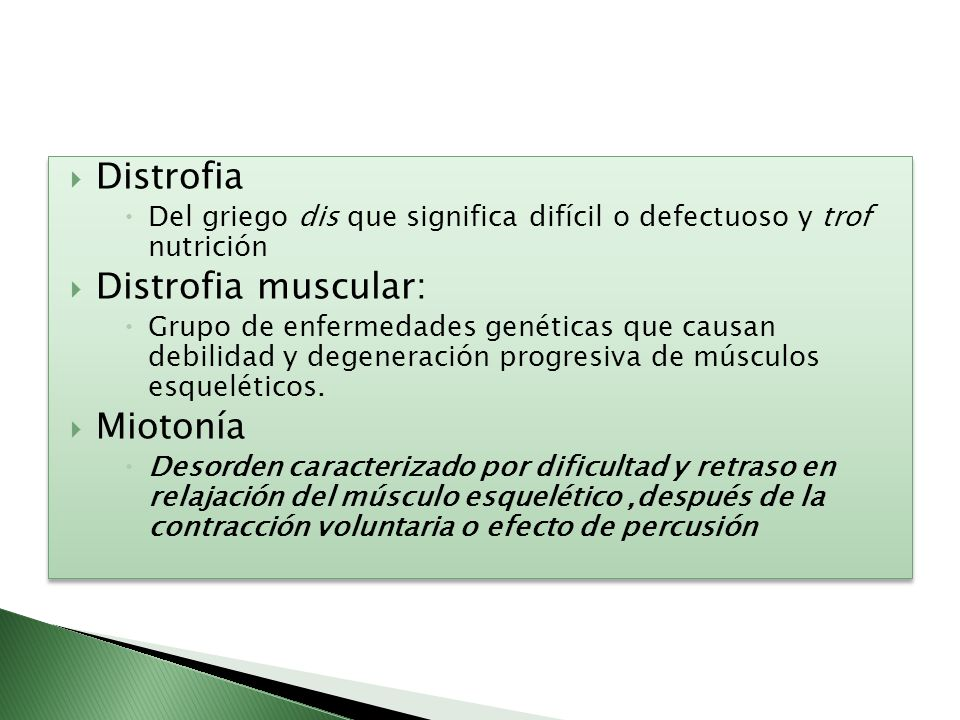 Distrofia Distrofia muscular: Miotonía