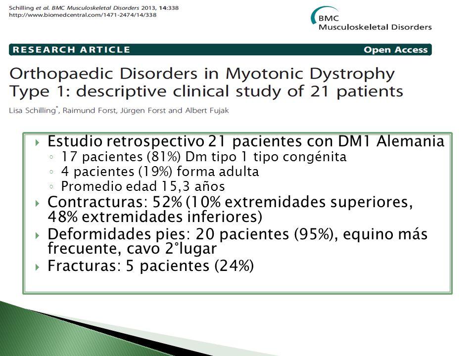 Estudio retrospectivo 21 pacientes con DM1 Alemania