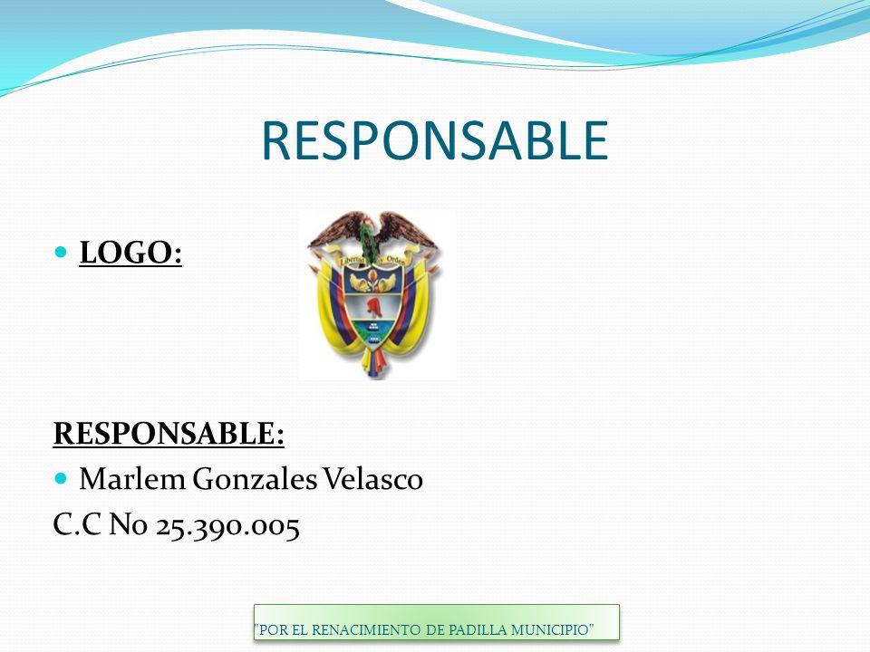 RESPONSABLE LOGO: RESPONSABLE: Marlem Gonzales Velasco