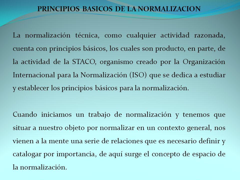 PRINCIPIOS BASICOS DE LA NORMALIZACION