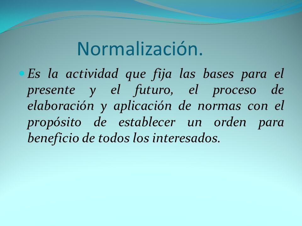 Normalización.