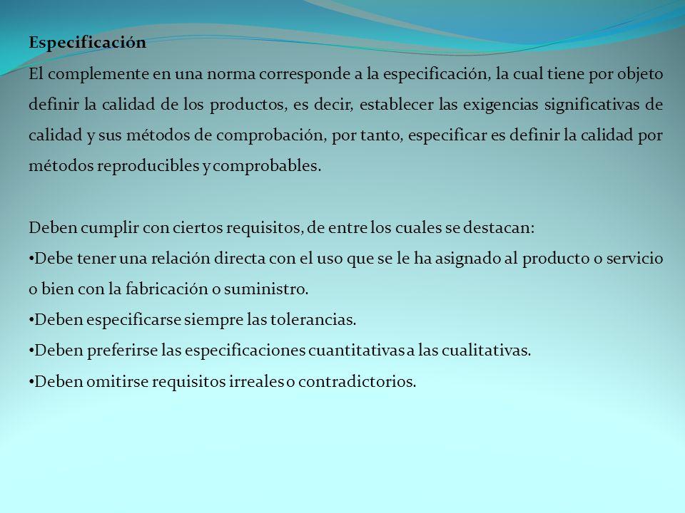Especificación