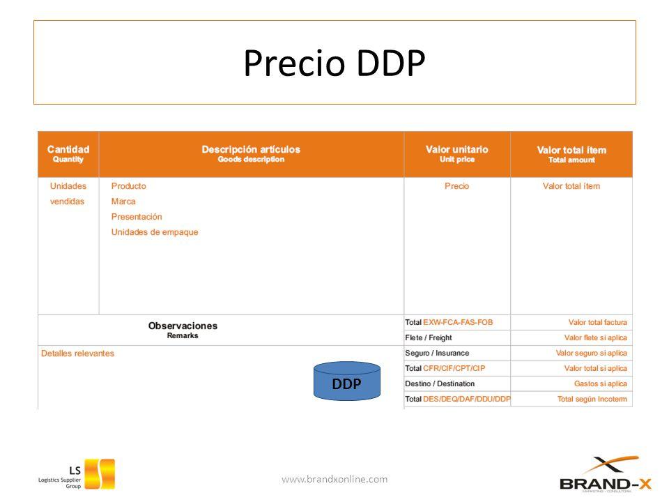 Precio DDP DDP www.brandxonline.com