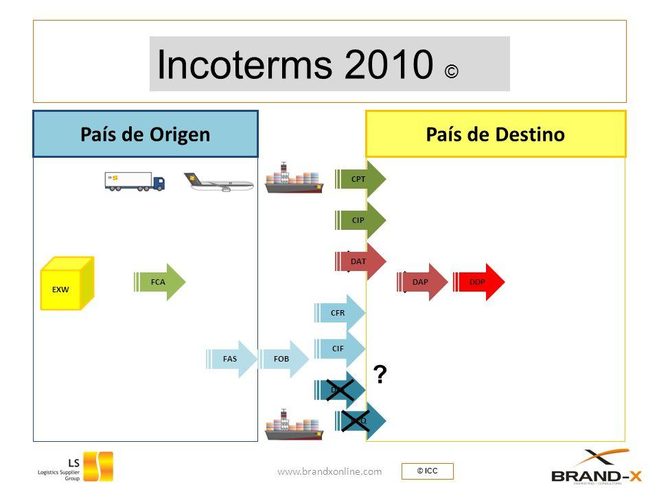 Incoterms 2000 © Incoterms 2010 © País de Origen País de Destino
