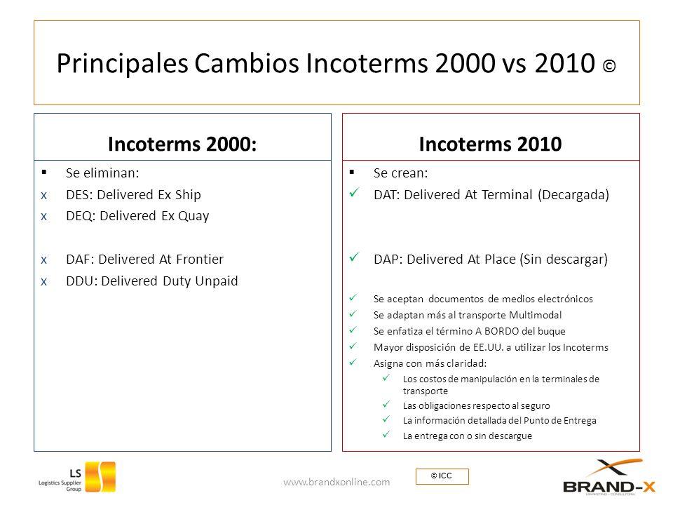 Principales Cambios Incoterms 2000 vs 2010 ©