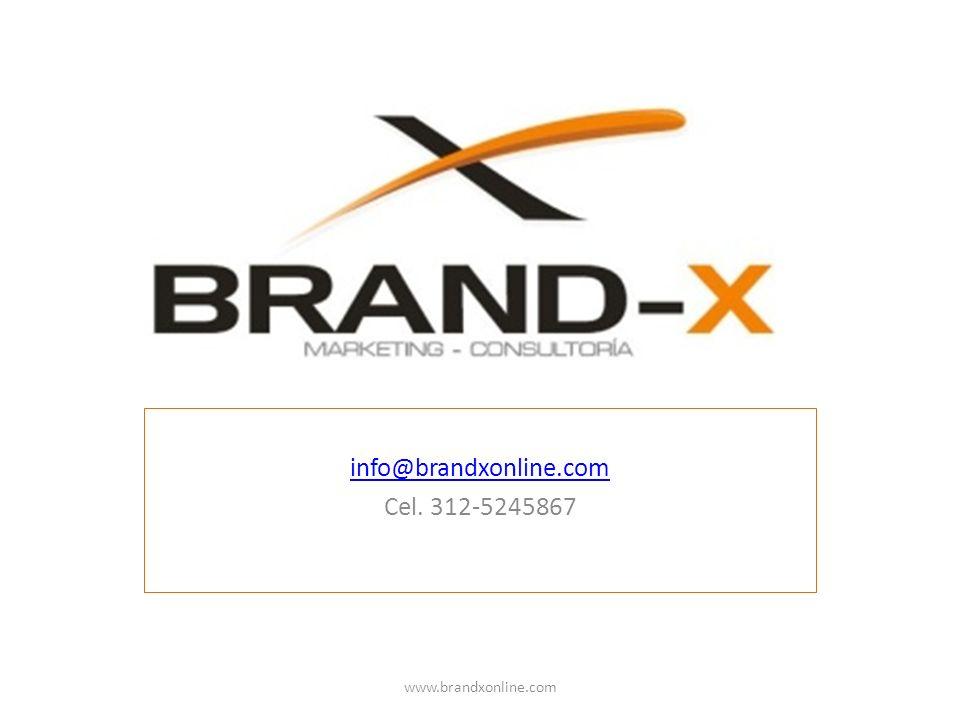 info@brandxonline.com Cel. 312-5245867