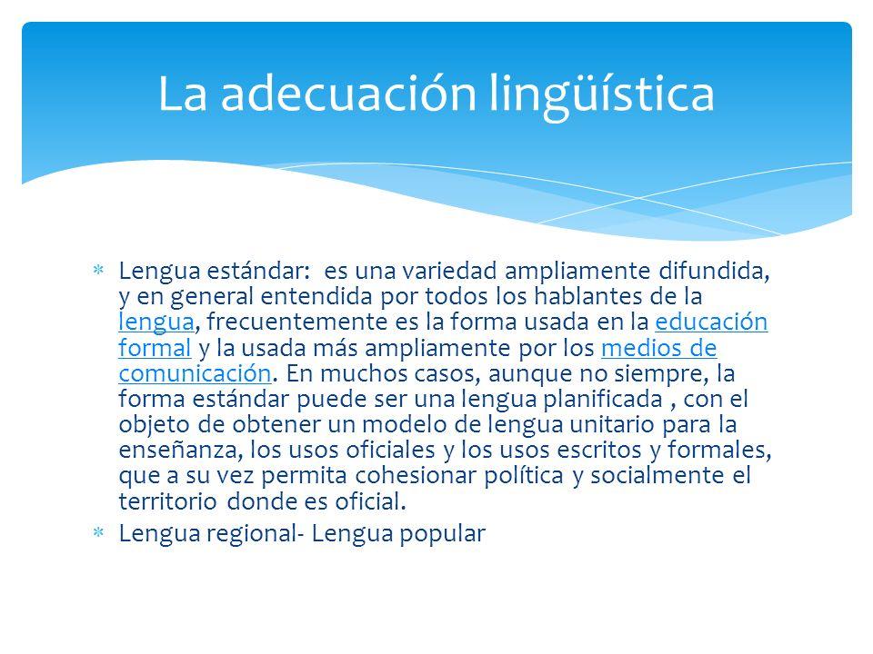 La adecuación lingüística