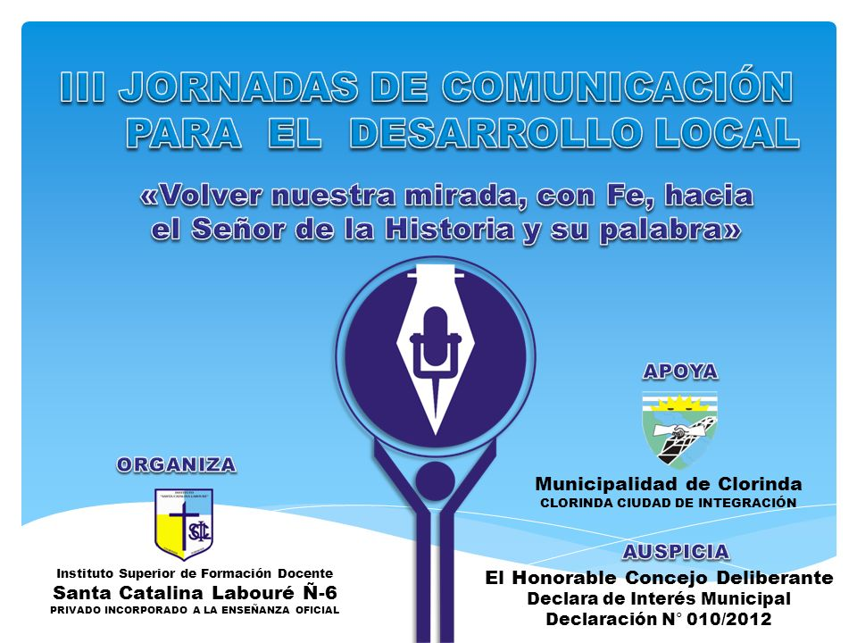 III JORNADAS DE COMUNICACIÓN PARA EL DESARROLLO LOCAL