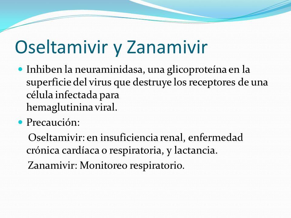 Oseltamivir y Zanamivir