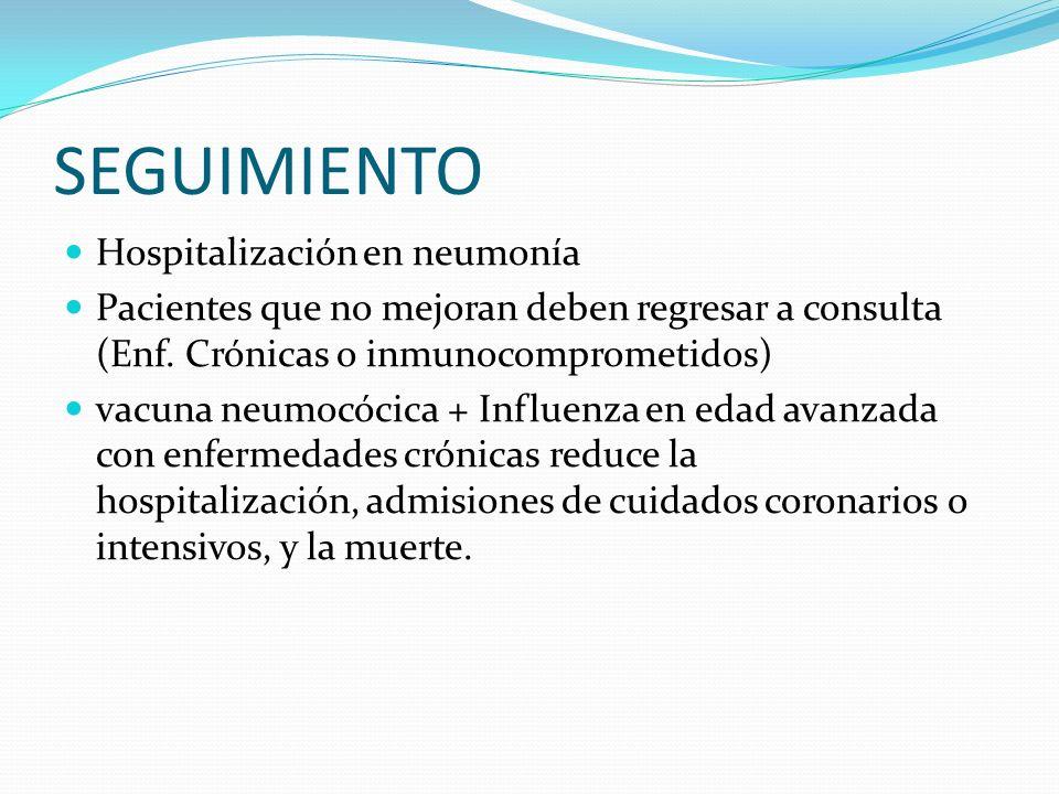 SEGUIMIENTO Hospitalización en neumonía