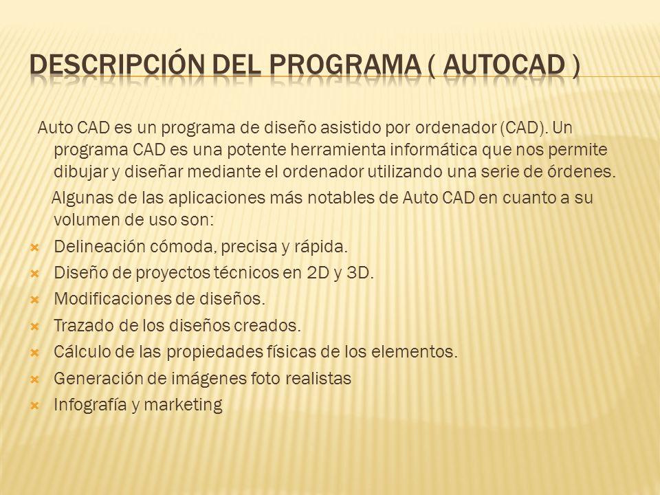 Descripción del programa ( autocad )