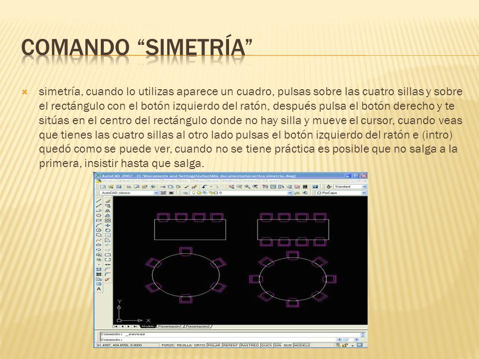 Comando simetría