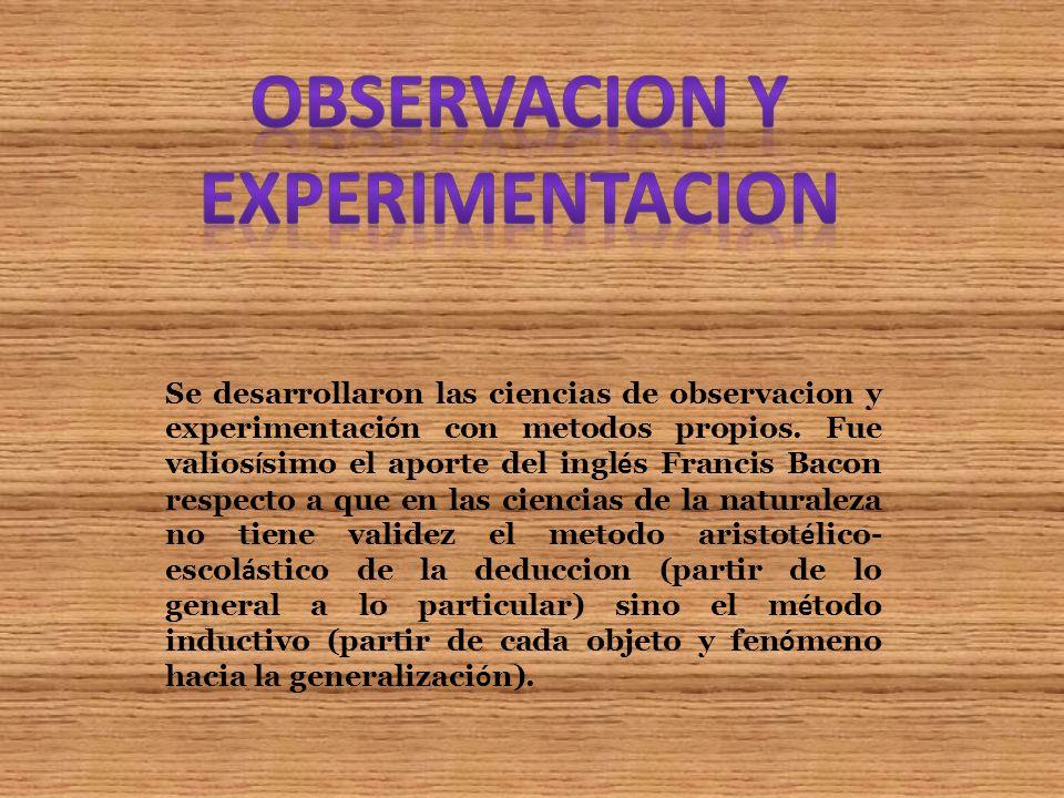 Observacion y experimentacion