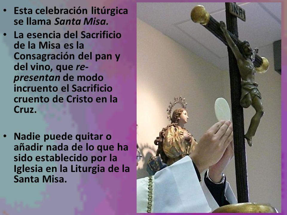 Esta celebración litúrgica se llama Santa Misa.