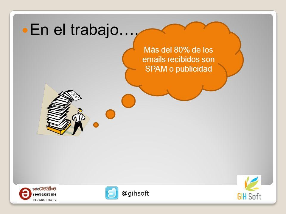 Más del 80% de los emails recibidos son SPAM o publicidad
