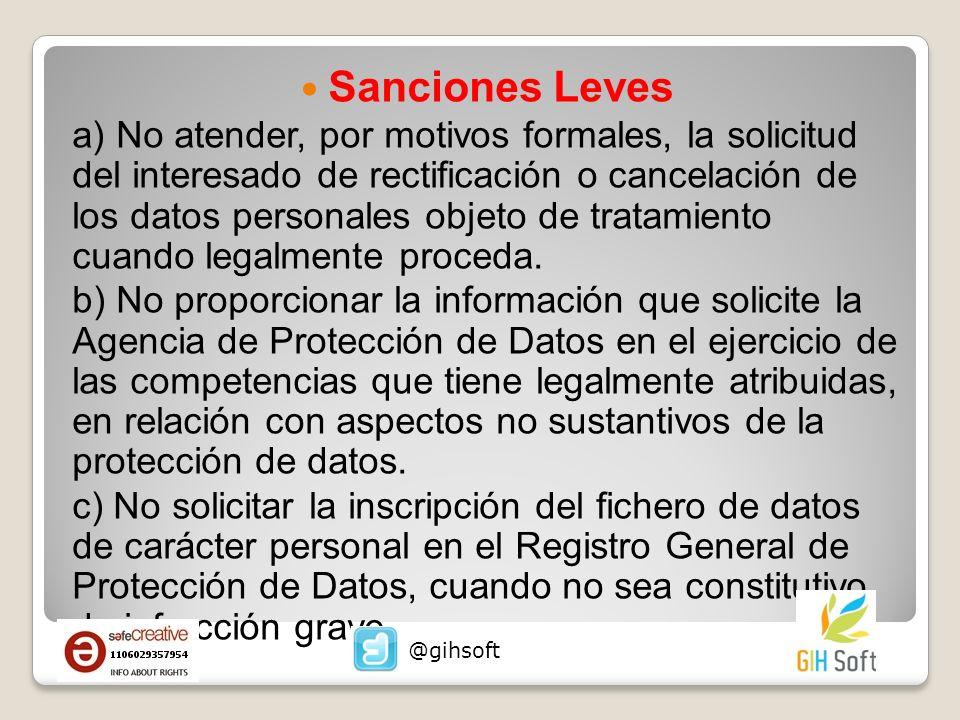 Sanciones Leves