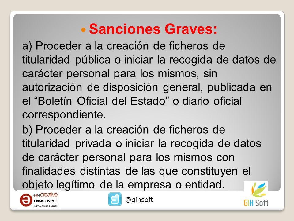 Sanciones Graves: