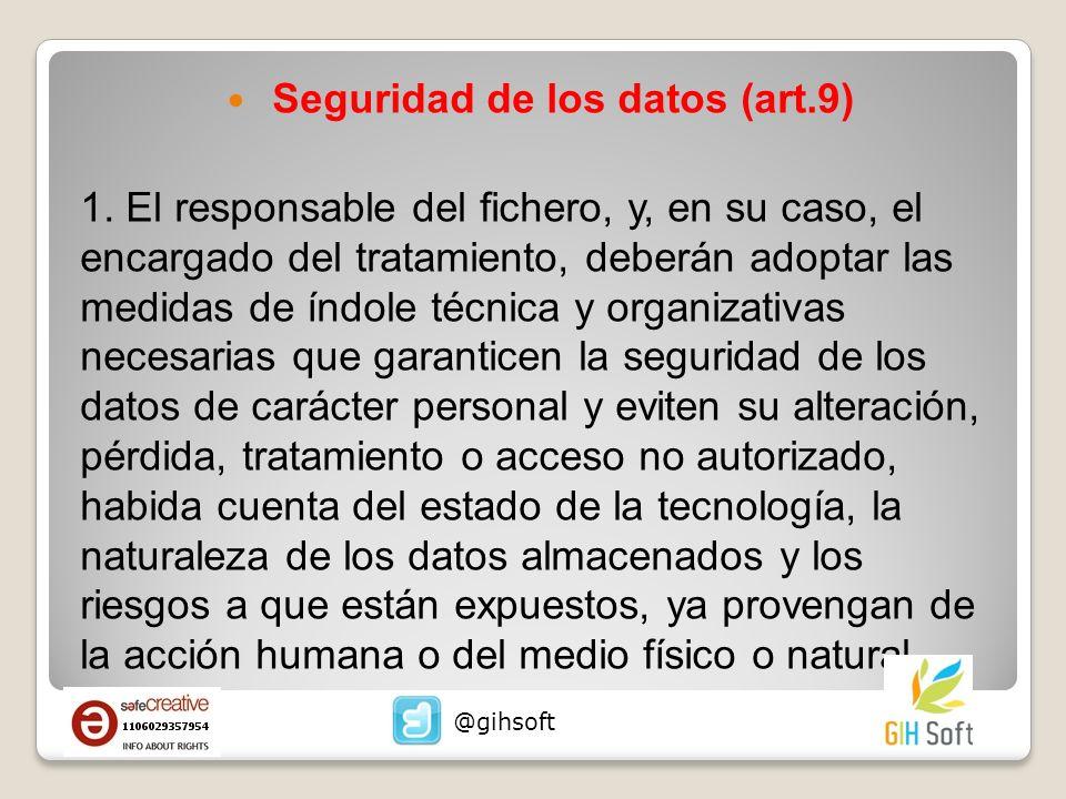 Seguridad de los datos (art.9)