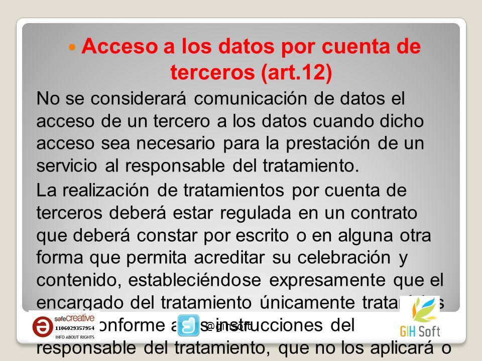 Acceso a los datos por cuenta de terceros (art.12)