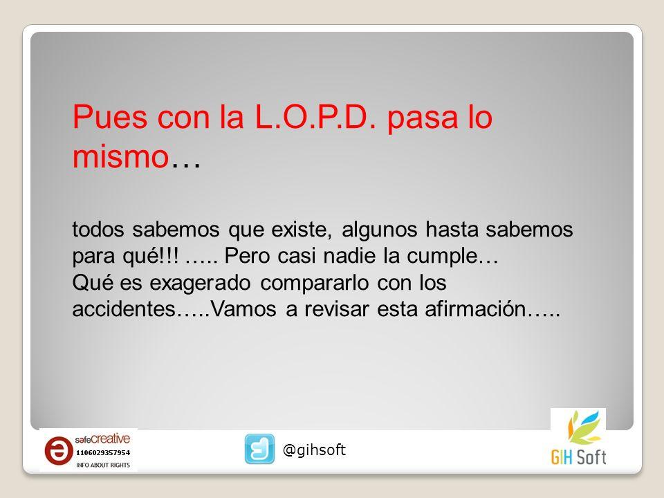 Pues con la L.O.P.D. pasa lo mismo…
