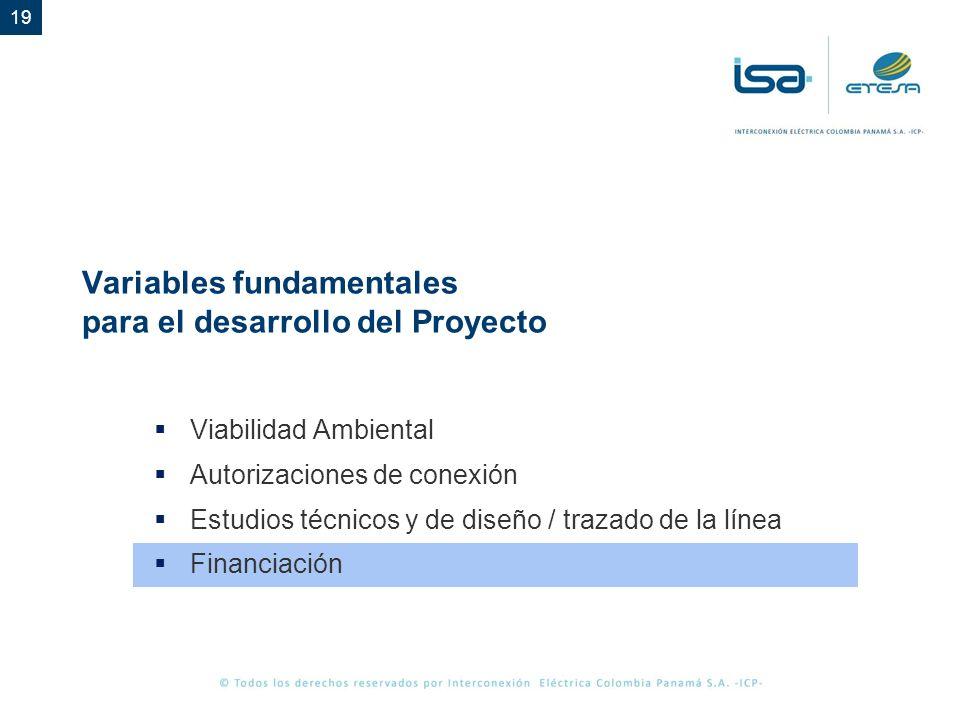 Variables fundamentales para el desarrollo del Proyecto