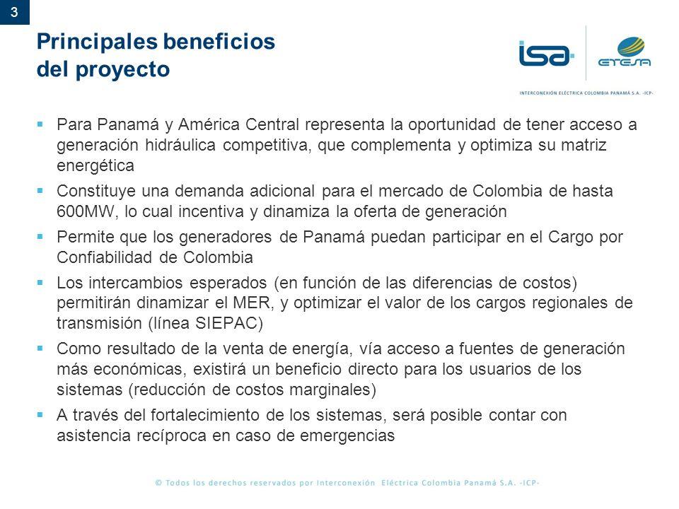 Principales beneficios del proyecto