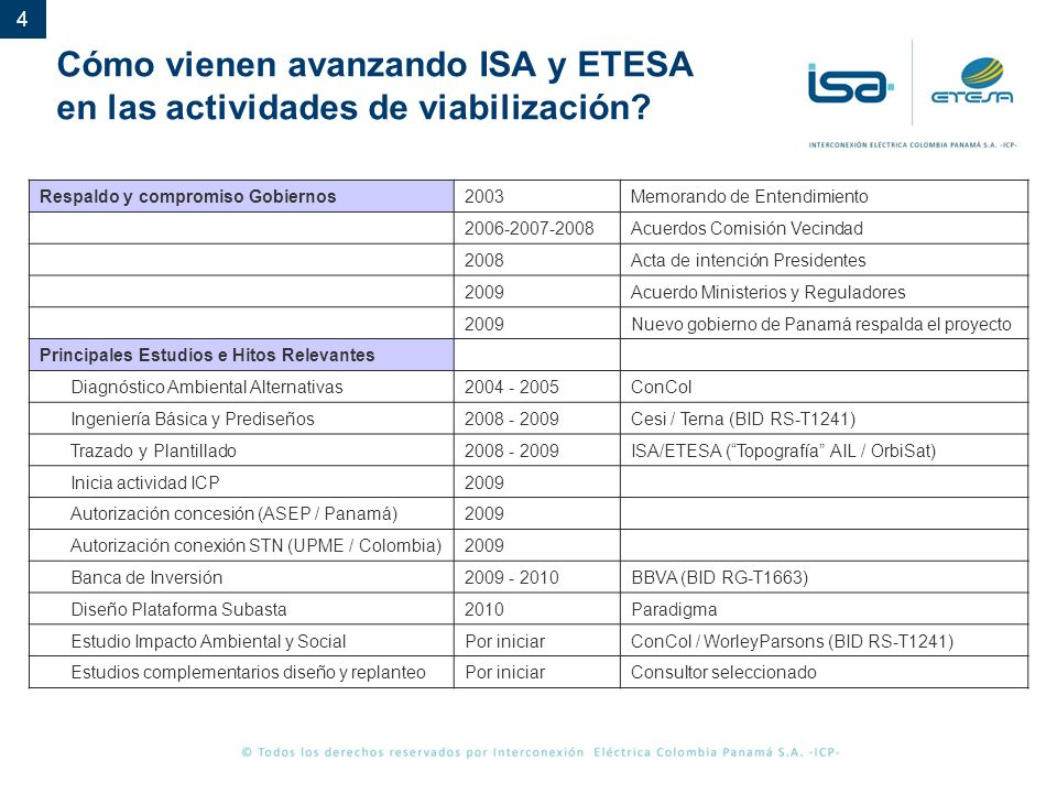Cómo vienen avanzando ISA y ETESA en las actividades de viabilización
