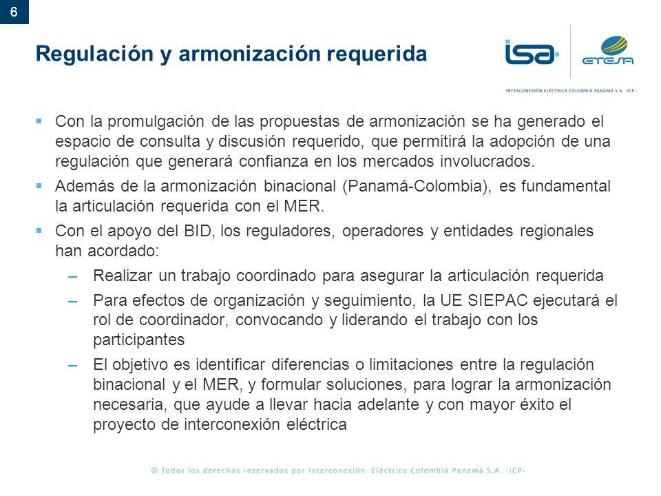 Regulación y armonización requerida