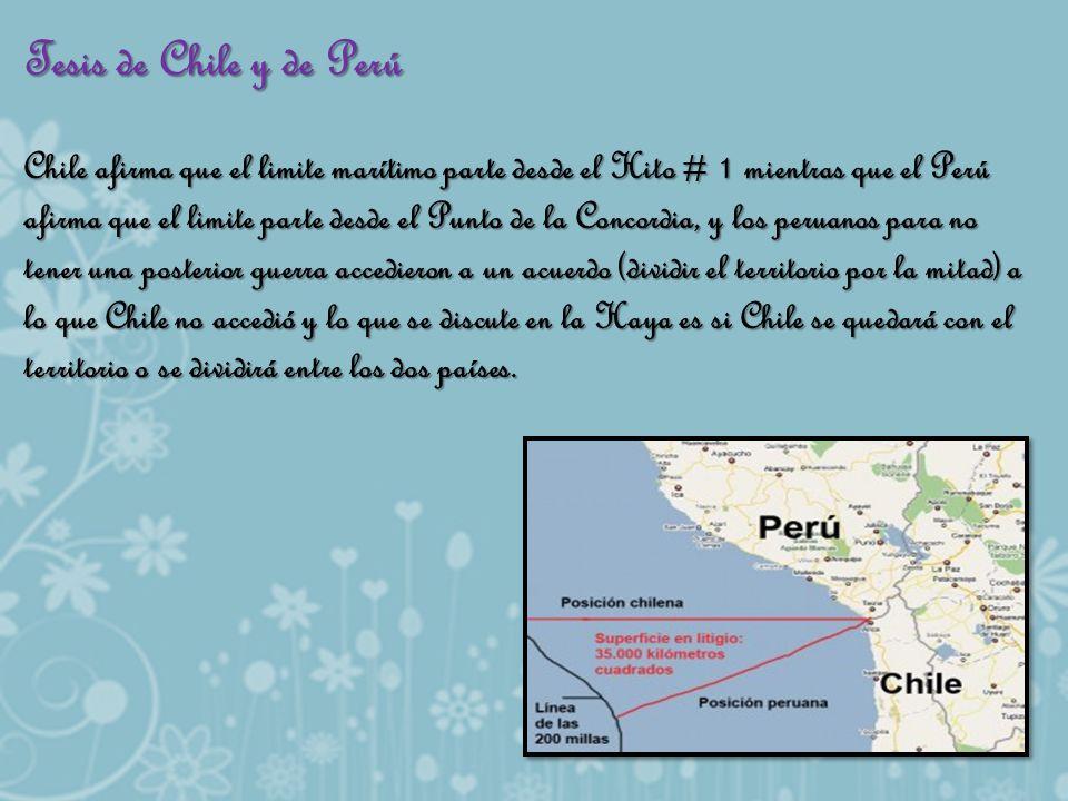 Tesis de Chile y de Perú