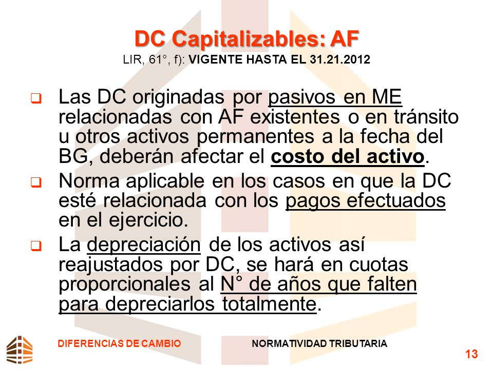DC Capitalizables: AF LIR, 61°, f): VIGENTE HASTA EL 31.21.2012