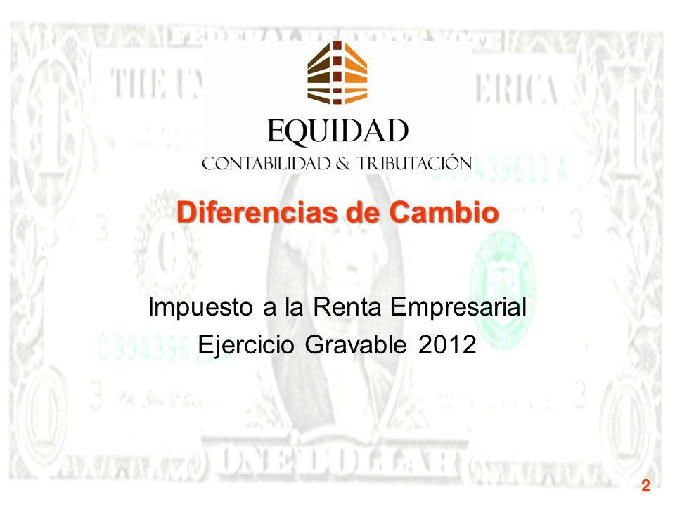 Impuesto a la Renta Empresarial Ejercicio Gravable 2012