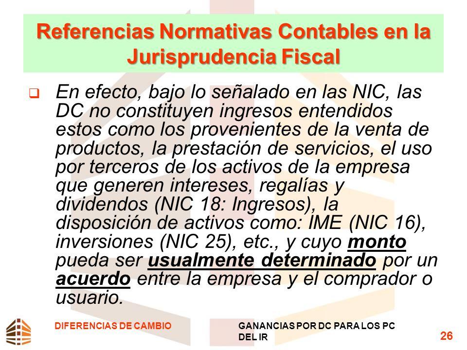 Referencias Normativas Contables en la Jurisprudencia Fiscal