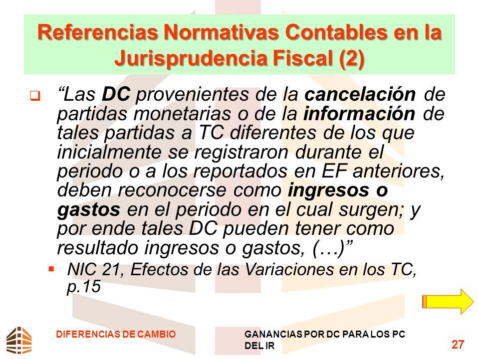 Referencias Normativas Contables en la Jurisprudencia Fiscal (2)