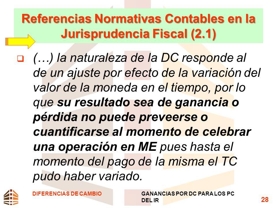 Referencias Normativas Contables en la Jurisprudencia Fiscal (2.1)