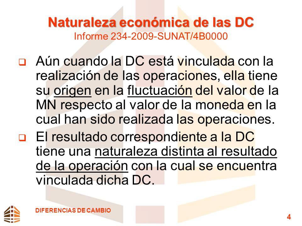 Naturaleza económica de las DC Informe 234-2009-SUNAT/4B0000