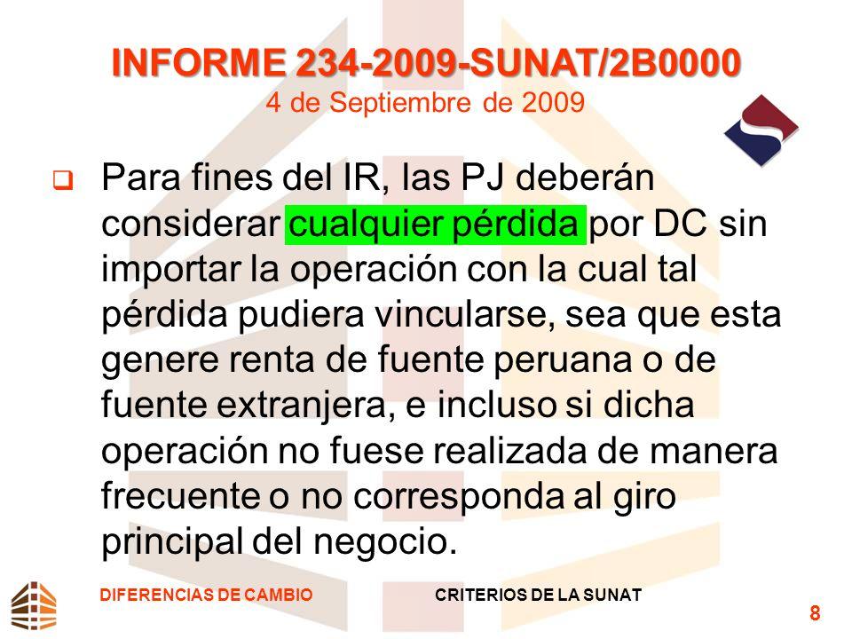 INFORME 234-2009-SUNAT/2B0000 4 de Septiembre de 2009