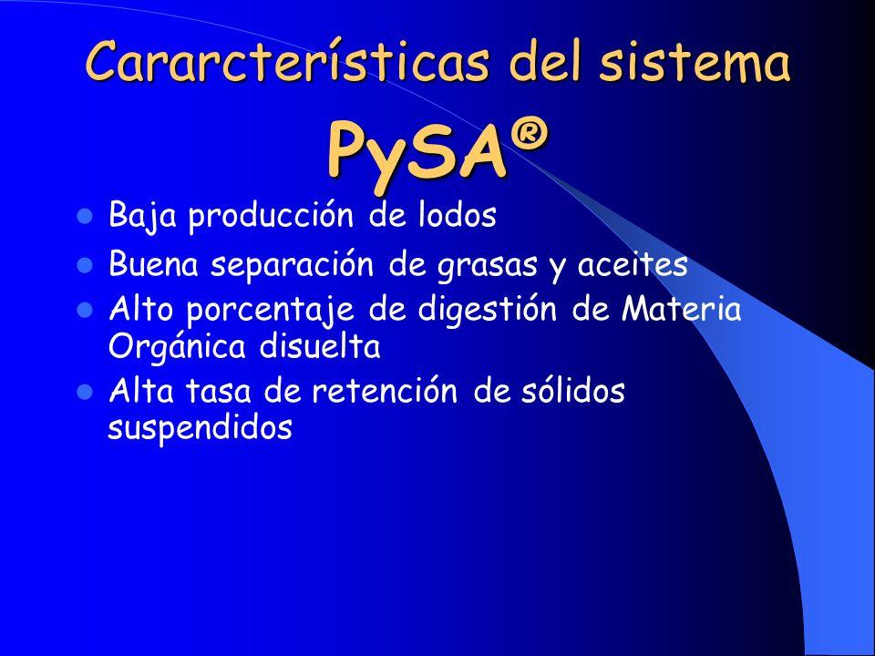 Cararcterísticas del sistema PySA®